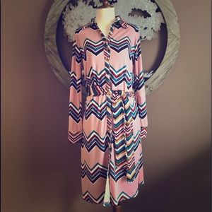 🆕 Pretty Pink Multi- Striped Dress 💕
